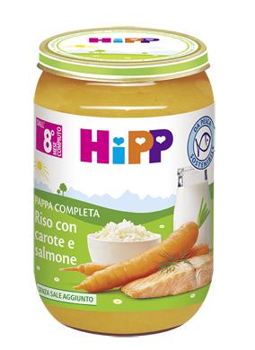 HIPP RISO CAROTE/SALMONE 220G